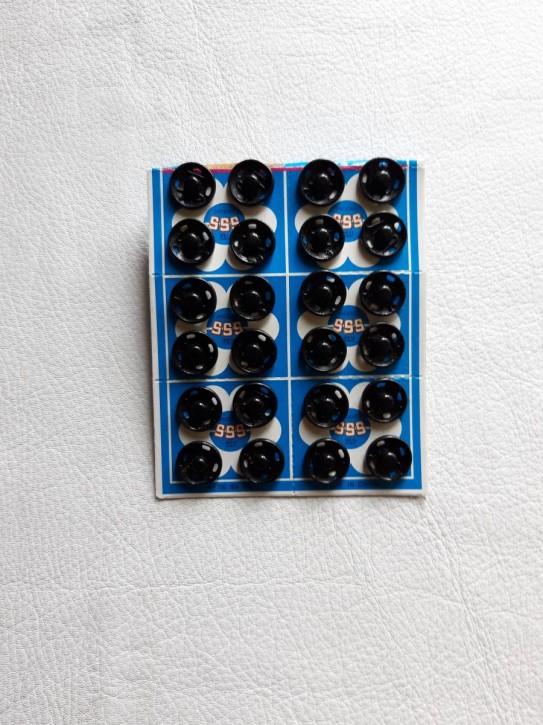 Annähdruckknöpfe schwarz Metall 13mm 24 Stück