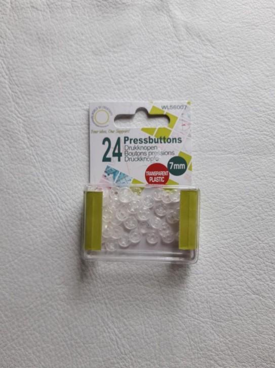 Druckknöpfe plastik 7mm 24 Stück