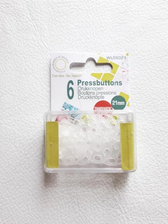 Druckknöpfe plastik 21mm 6 Stück
