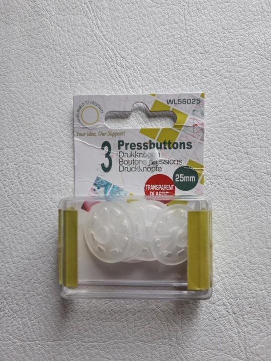 Druckknöpfe plastik 25mm 3 Stück