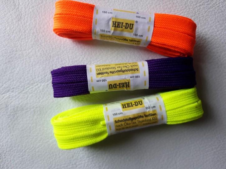 Neonschnürsenkel Flach reine Baumwolle 150cm