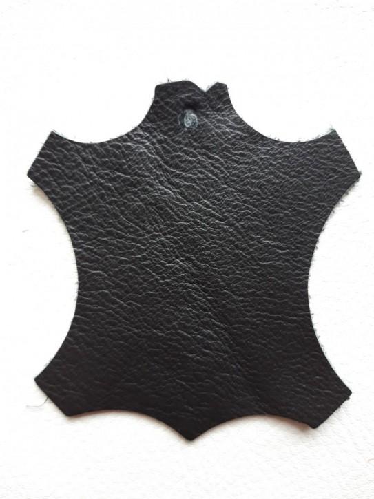 Rindnappaleder für Babyschuhe, Lederwaren schwarz, leicht glänzend 40x30cm