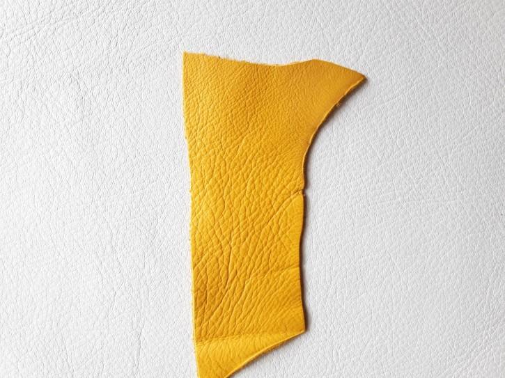 Rindnappaleder für Babyschuhe, Lederwaren Maisgelb 40x30cm
