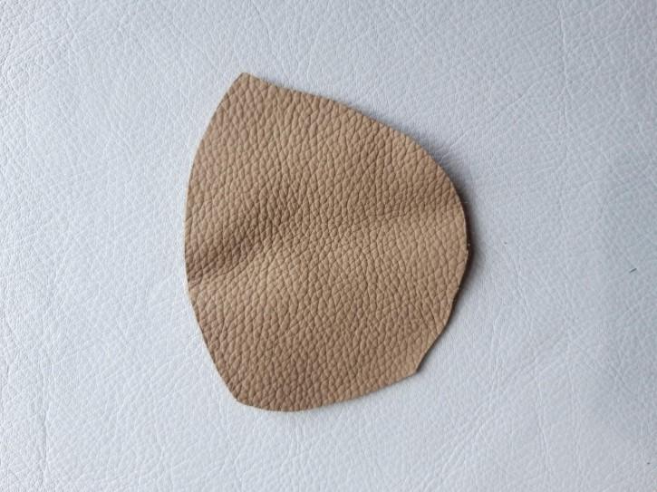 Rindnappaleder für Babyschuhe, Lederwaren dunkelbeige 40x30cm