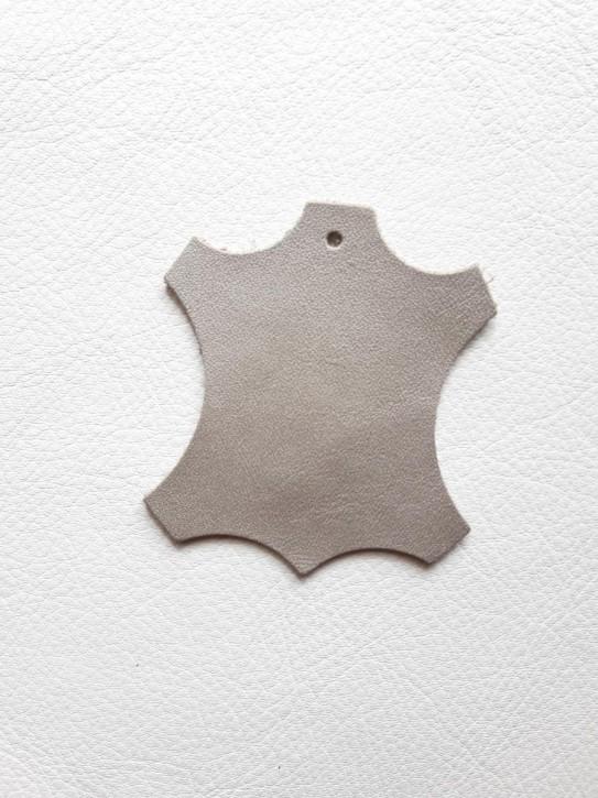 Rindnappaleder für Babyschuhe, Lederwaren silber metallic