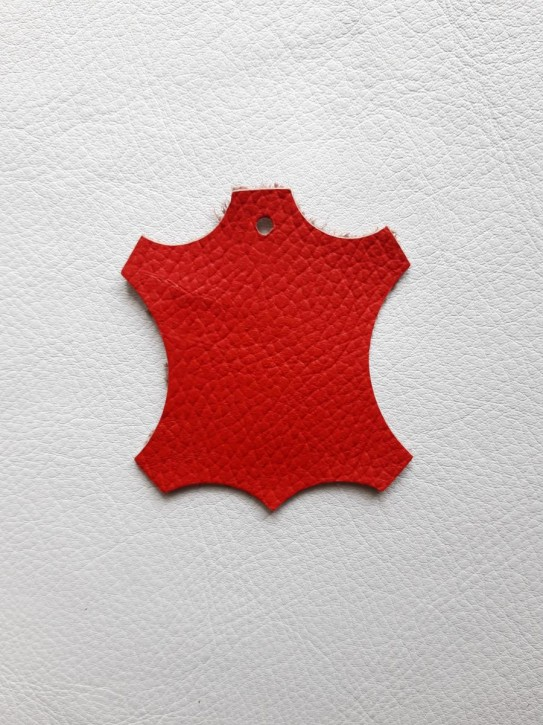 Rindnappaleder für Babyschuhe, Lederwaren rot