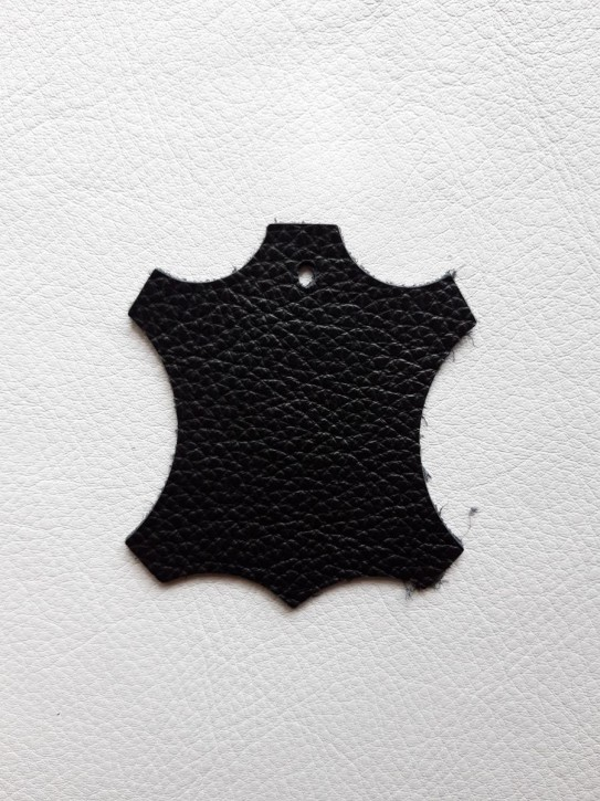 Rindnappaleder für Babyschuhe, Lederwaren schwarz, leicht glänzend