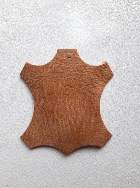 Büffelleder für Lederherstellung braun 40x30cm