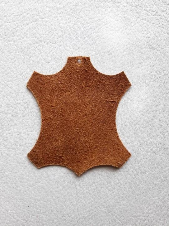 Rinderleder, Oberfläche angeraut braun 40x30cm