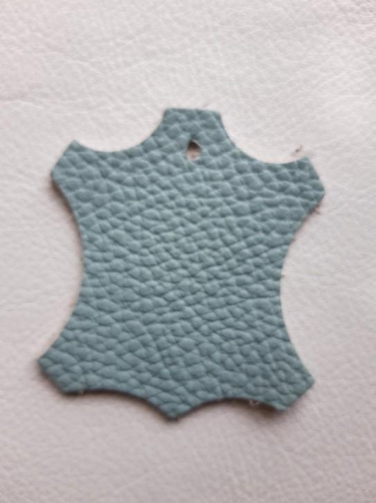 Rindnappaleder für Babyschuhe, Lederwaren Babyblau 40x30cm