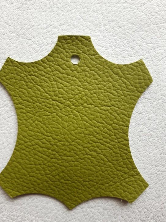 Rindnappaleder für Babyschuhe, Lederwaren lemon grün