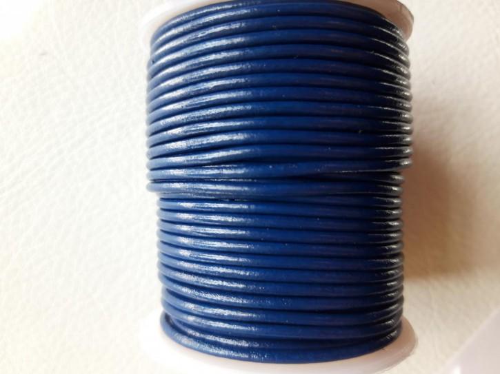Lederriemen rund, pflanzlich gegerbtes Rindsleder königsblau